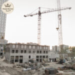 Ход строительства дома Линкольн в августе 2021 года