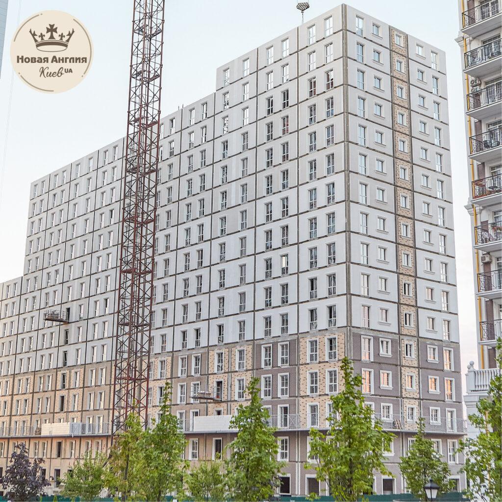 Ход строительства дома Ньюкасл в августе 2021 года