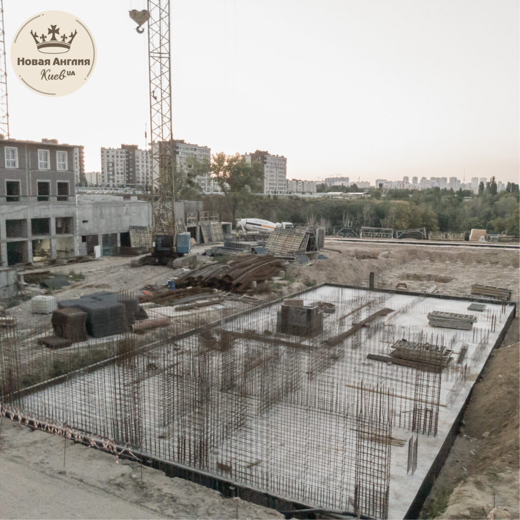 Ход строительства дома Виндзор в августе 2021 года